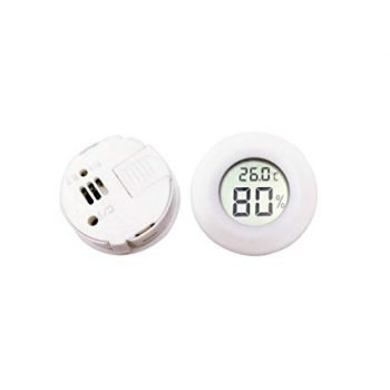 High 1pcs Mini LCD Digital Thermometer (White)