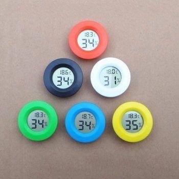 High 1pcs Mini LCD Digital Thermometer (White)