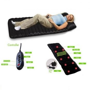 Full Body Massage Mat with 9 Massaging Points – Black