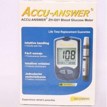 Accu-Answer Glucose Test Meter - black
