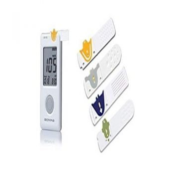 Bionime 100 Blood Glucose Monitor with 10 test strips – White