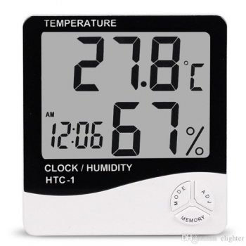 HTC-1 Digital Thermometer Hygrometer Weather - White and Blue