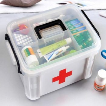 Ongmics Medicines Storage First Aid Box 40- White