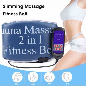 2 in 1 Sauna Slimming Massage Fitness Belt Body Massager Vibrating Heating Abdominal Muscle Exercise Belts Fat Burner