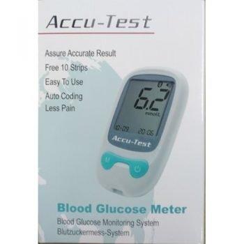 ACCU-Test Blood Glucose Monitor with 10 strip