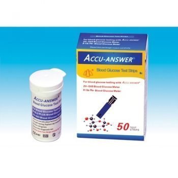 Accu-Answer Glucose Test Meter - Strip 50p
