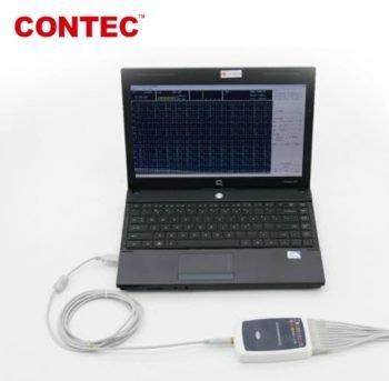 CONTEC 8000G 12 Lead ECG workstation mini size EKG machine connected with computer