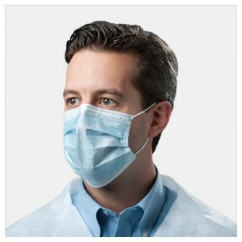 Face Mask With Earloops, Medical Grade, Blue