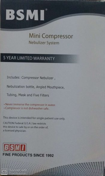 BSMI Mini Compressor Nebulizer Systems