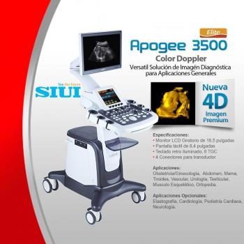 Digital 4D Color Doppler Ultrasound Machine Apogee 3500 Elite