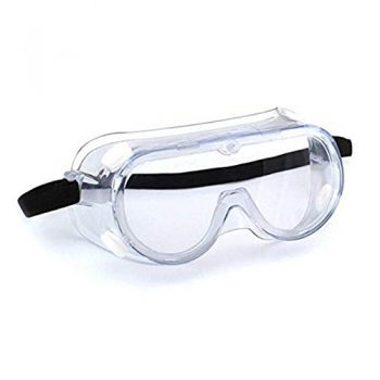 Medical Protective Safety Goggles with Clear Glass Wide-Vision and Chemical Splash Eye Protection