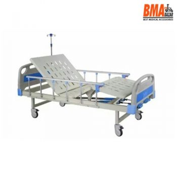 High Quality Two Cranks Hospital Bed With Mattress