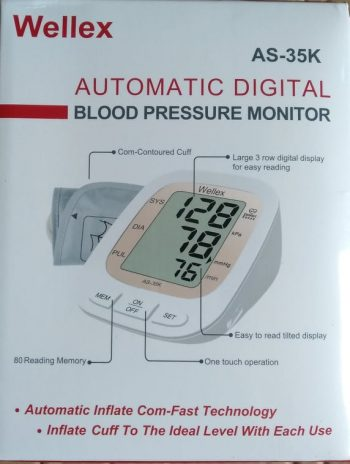 Wellex AS-35K Automatic Digital BP Monitor