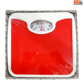Mega 130 Kg Analog Personal Weight Scale, Red & Blue