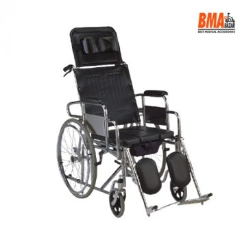 kaiyang KY608GC-46 Commode Wheelchair for Users with Stroke/Pamplegia/Gatism